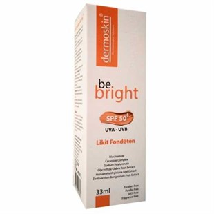 Dermoskin Be Bright SPF50+ Likit Fondöten 33ml