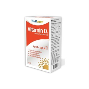 Wellcare Vitamin D3 600 IU 5 ml Sprey